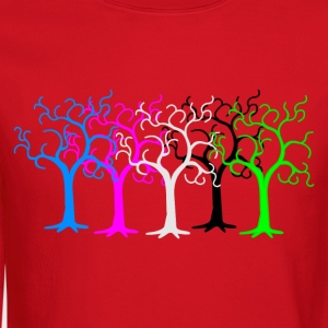 colored forest - digital Women's T-Shirts - Crewneck Sweatshirt