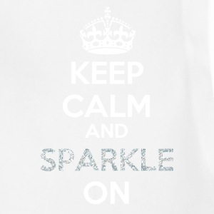 Keep Calm and Sparkle On - Sparkle Pattern Filling Women's T-Shirts - Adjustable Apron
