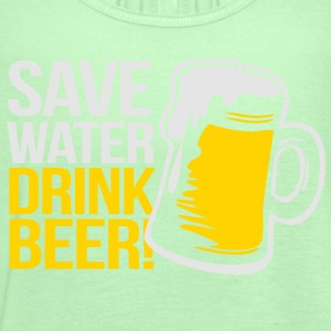 Save Water - Drink Beer - Women's Flowy Tank Top by Bella