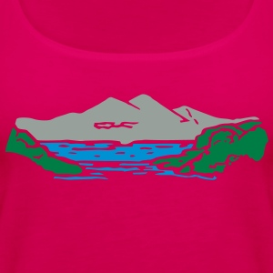 Mountain lake Hoodies - Women's Premium Tank Top