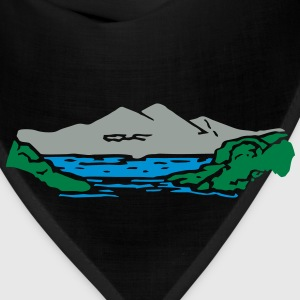 Mountain lake Hoodies - Bandana