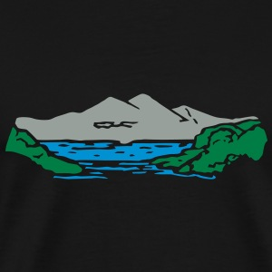 Mountain lake Hoodies - Men's Premium T-Shirt
