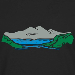 Mountain lake Hoodies - Men's Premium Long Sleeve T-Shirt