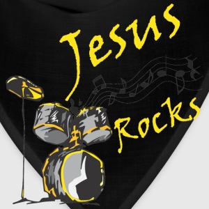 Jesus Rocks w/drum Women's T-Shirts - Bandana