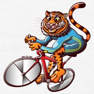 Olympic Cycling Tiger Gift - Men's T-Shirt