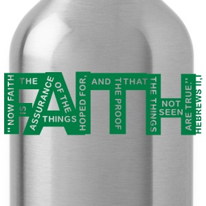 faith hebrews 11-1 - 1col Hoodies - Water Bottle