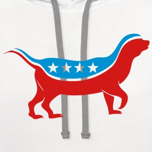 honey badger for president Women's T-Shirts - Contrast Hoodie