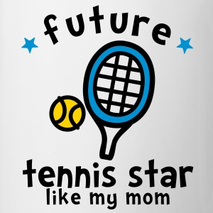 Tennis Star Like Mom Kids' Shirts - Coffee/Tea Mug