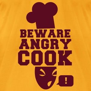 BEWARE angry COOK! with a speech bubble ! Bags  - Men's T-Shirt by American Apparel
