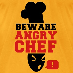 BEWARE angry CHEF! with a speech bubble ! Bags  - Men's T-Shirt by American Apparel