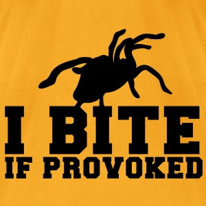 I BITE! if provoked! creepy spider scary!  Bags  - Men's T-Shirt by American Apparel