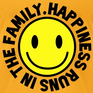 HAPPINESS runs in the FAMILY smiley Bags  - Men's T-Shirt by American Apparel