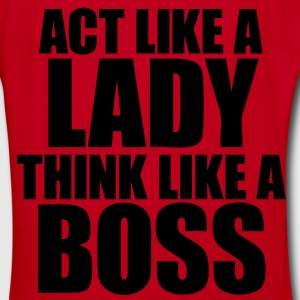 Act Like A Lady Think Zip Hoodies/Jackets - stayflyclothing.com - Women's V-Neck T-Shirt