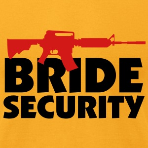 Bride Security 3 (2c)++ Bags  - Men's T-Shirt by American Apparel