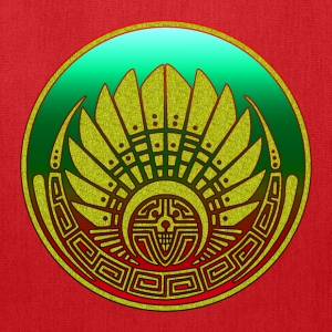 Crop circle - Mayan mask - Silbury Hill 2009 - Quetzalcoatl - Native Americans - Aztec - Venus - 2012 - Symbol New Age / Hoodies - Tote Bag