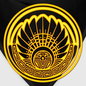 Crop circle - Mayan mask - gold - Silbury Hill 2009 - Quetzalcoatl - Native Americans - Aztec - Venus - 2012 - Symbol New Age / Hoodies - Bandana