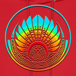 Crop circle - Mayan mask - Silbury Hill 2009 - Quetzalcoatl - Native Americans - Aztec - Venus - 2012 - icon new age / T-Shirts - Men's Hoodie