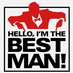 Hello Im The Bestman 1 (2c)++ Hoodies - Men's Premium Tank