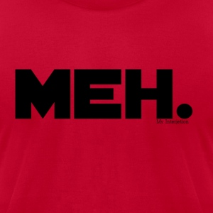 MEH. Hooded - Men's T-Shirt by American Apparel