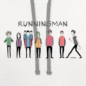 Running Man Cast (Episode 74 Super Natural) T-Shir - Contrast Hoodie