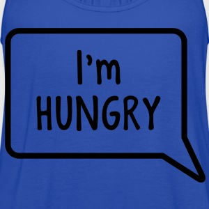 I'm hungry tummy stomach design T-Shirts - Women's Flowy Tank Top by Bella