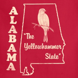 Alabama, The Yellowhammer State men's vintage T - Adjustable Apron