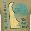 Delaware, The First State vintage mens t-shirt - Men's T-Shirt