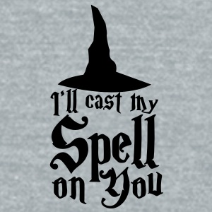 I'll cast my SPELL on you! with a witches hat Accessories - Unisex Tri-Blend T-Shirt by American Apparel