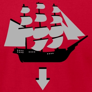 Red Tri-Masted Spanish Galleon Sweatshirt - Men's T-Shirt by American Apparel
