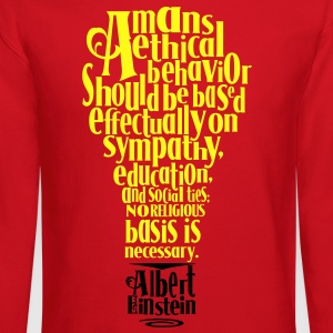 Albert Einstien Quote regarding Religion Women's T-Shirts - Crewneck Sweatshirt