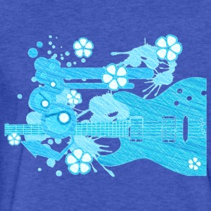 GUITAR-POP TUNES - Fitted Cotton/Poly T-Shirt by Next Level