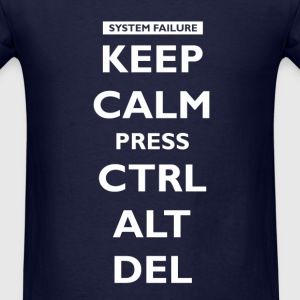 Keep Calm press Ctrl Alt Del Long Sleeve Shirts - Men's T-Shirt