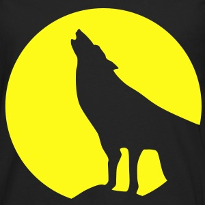 Wolf, glow in dark - Men's Premium Long Sleeve T-Shirt