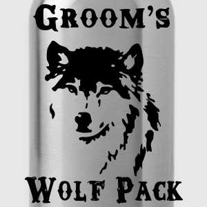 Groom's Wolf Pack - Water Bottle