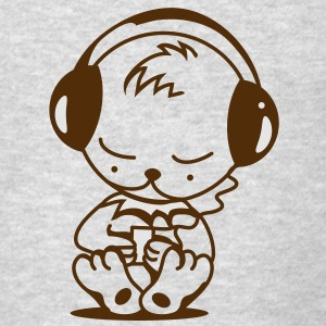 Little bear with an MP3 Player Sweatshirts - Men's T-Shirt