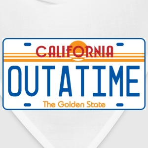 White OUTATIME License Plate T-Shirts - Bandana