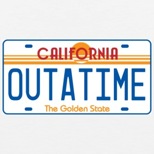 White OUTATIME License Plate T-Shirts - Men's Premium Tank