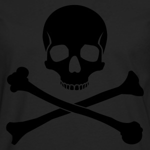 Black Skull and Crossbones Men - Men's Premium Long Sleeve T-Shirt
