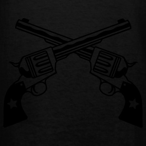Black six shooters Sweatshirt - Men's T-Shirt