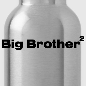 Black Big Brother of Twins Kids Shirts - Water Bottle