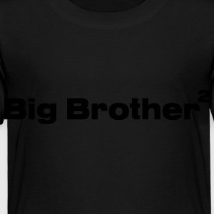 Black Big Brother of Twins Kids Shirts - Toddler Premium T-Shirt
