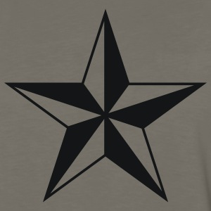 Khaki nautical north star  Men - Men's Premium Long Sleeve T-Shirt