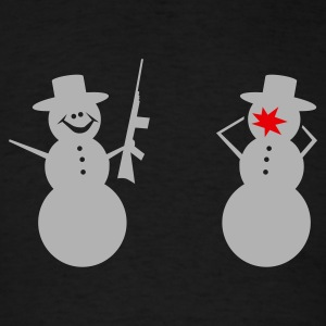 Black Snowmen Violence Men - Men's T-Shirt