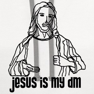 White Jesus is My DM Men - Contrast Hoodie
