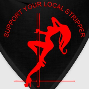 Red support_your_local_stripper Men - Bandana