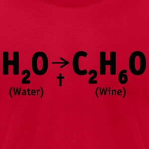 Red Water into Wine Sweatshirt - Men's T-Shirt by American Apparel