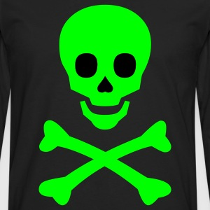 Neon Happy Skull and Bones - Men's Premium Long Sleeve T-Shirt