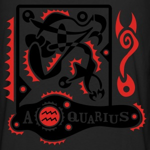 Black Aquarius-Zodiac-Sign Sweatshirt - Men's Premium Long Sleeve T-Shirt