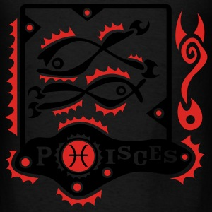 Black Pisces-Fishes-Zodiac-Sign Eco-Friendly - Men's T-Shirt