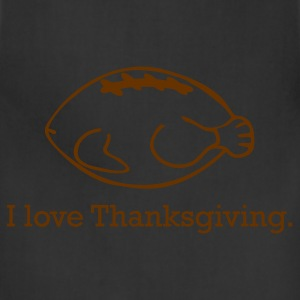 Thanksgiving Turkey & Football - Adjustable Apron